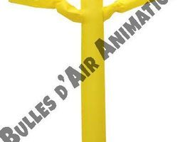 Bulles d'air Animation - Les Ulmes - Nos structures et nos plus - SKY DANCER JAUNE
