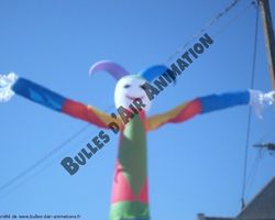 Bulles d'air Animation - Les Ulmes - Nos structures et nos plus - SKY DANCER BOUFFON